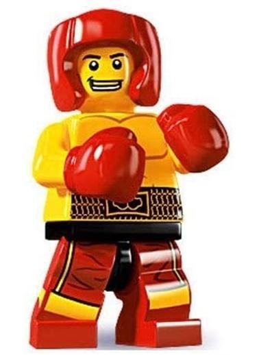 Lego Lego Minifigür - Seri 5 - 8805 - Boxer Renkli